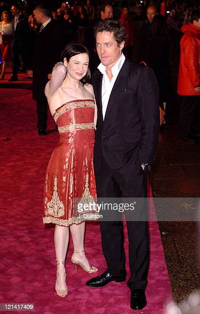 Renee Zellweger and Hugh Grant during Bridget Jones The Edge of Reason London Premiere Outside Arrivals at Odeon Leicester Square in London Great...