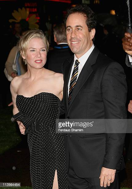 Renee Zellweger and Jerry Seinfeld attend the Bee Movie film premiere held at the Empire Leicester Square on December 6, 2007 in London, England.