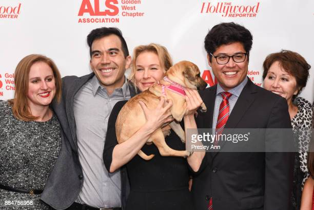 Renee Zellweger and Justin Ichida attend ALS Golden West Chapter Hosts Champions For Care And A Cure at The Fairmont Miramar Hotel Bungalows on...