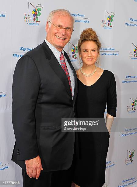 Renee Zellweger and Mark Laret CEO of UCSF Medical Center and UCSF Benioff Children's Hospital attend the UCSF Medical Center and The Painted Turtle...