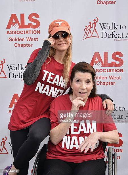 Renee Zellweger and Nanci Ryder attend the The ALS Association Golden West Chapter Los Angeles County Walk To Defeat ALS at Exposition Park on...
