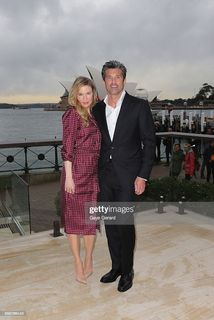 Renee Zellweger And Patrick Dempsey During A Media Opportunity For