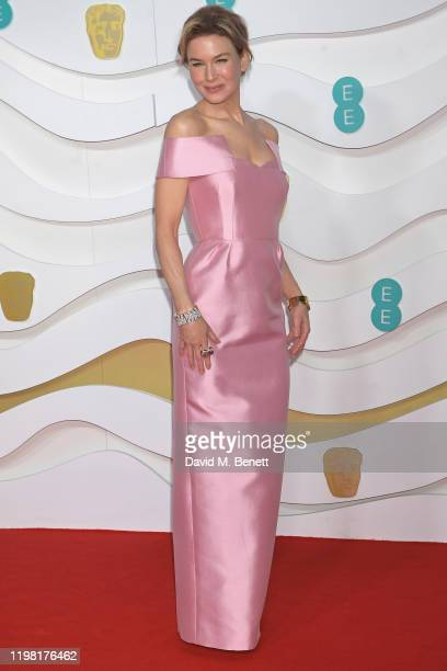 Renee Zellweger arrives at the EE British Academy Film Awards 2020 at Royal Albert Hall on February 2, 2020 in London, England.