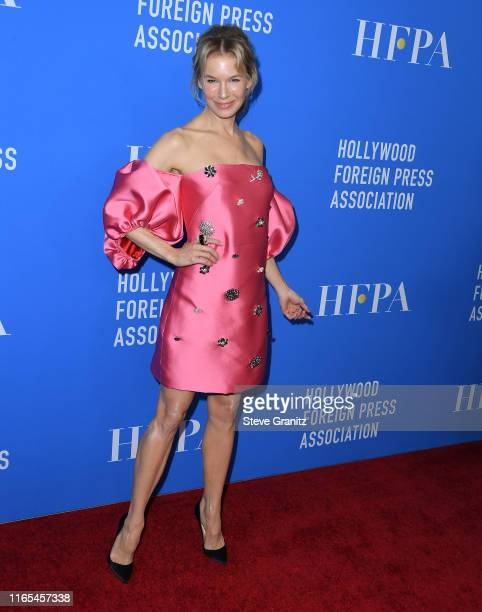 Renee Zellweger arrives at the Hollywood Foreign Press Association's Annual Grants Banquet at Regent Beverly Wilshire Hotel on July 31 2019 in...