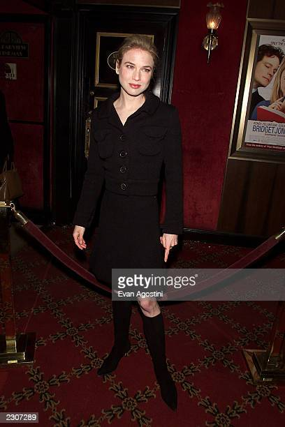 Renee Zellweger at the 'Bridget Jones's Diary' film premiere at the the Ziegfeld Theater in New York City. . Photo: Evan Agostini / Getty Images.