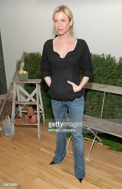 Renee Zellweger at the Tribeca Cinema Series Hosts Miss Potter Tea Party and Beatrix Potter Gallery Launch at Tribeca Cinemas Gallery in New York...