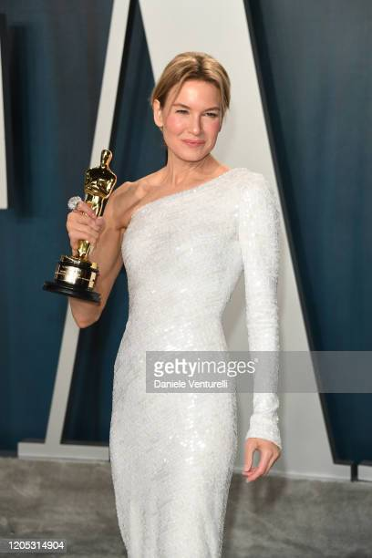 Renee Zellweger attends 2020 Vanity Fair Oscar Party Hosted By Radhika Jones at Wallis Annenberg Center for the Performing Arts on February 09 2020...