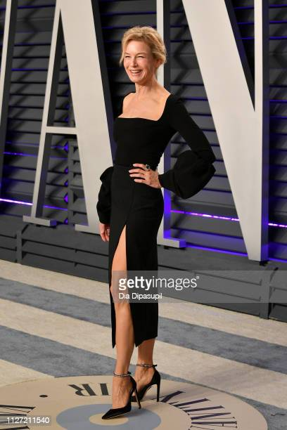 Renee Zellweger attends the 2019 Vanity Fair Oscar Party hosted by Radhika Jones at Wallis Annenberg Center for the Performing Arts on February 24...