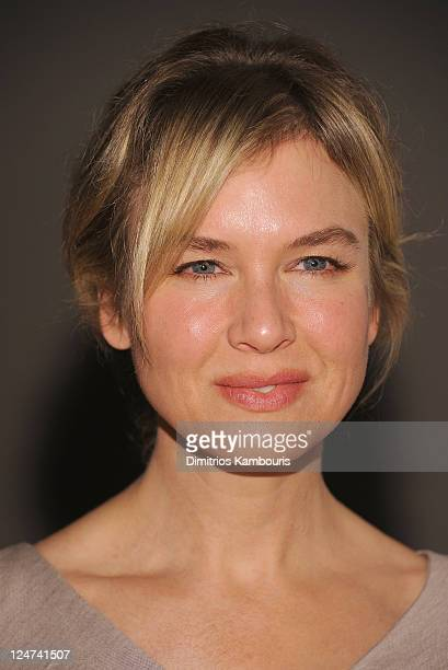 Renee Zellweger attends the Carolina Herrera Spring 2012 fashion show during Mercedes-Benz Fashion Week at The Theater at Lincoln Center on September...