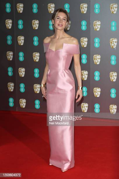 Renee Zellweger attends the EE British Academy Film Awards 2020 at Royal Albert Hall on February 02 2020 in London England