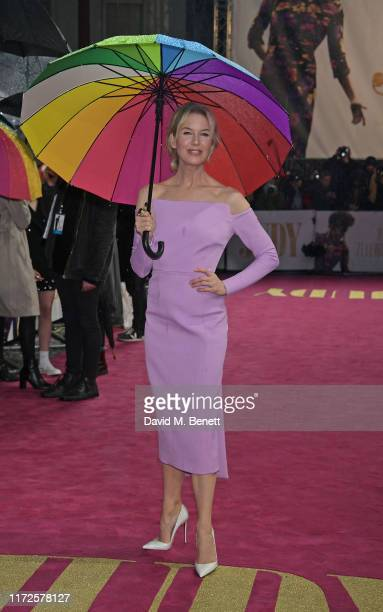 """Renee Zellweger attends the European Premiere of """"Judy"""" at The Curzon Mayfair on September 30, 2019 in London, England."""