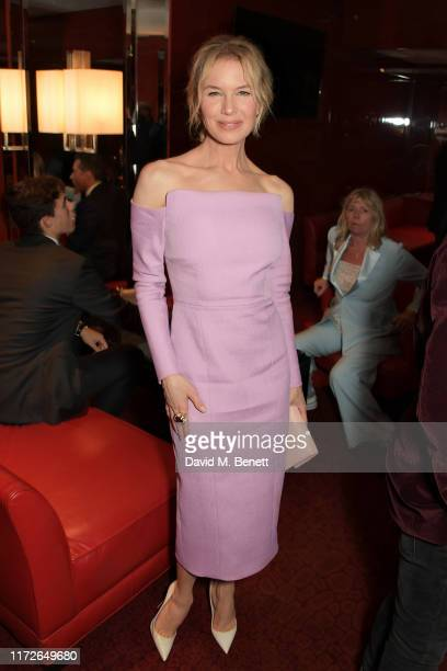 Renee Zellweger attends the Judy European Premiere after party at JW Marriott Grosvenor House London supported by PerrierJouet Champagne on September...