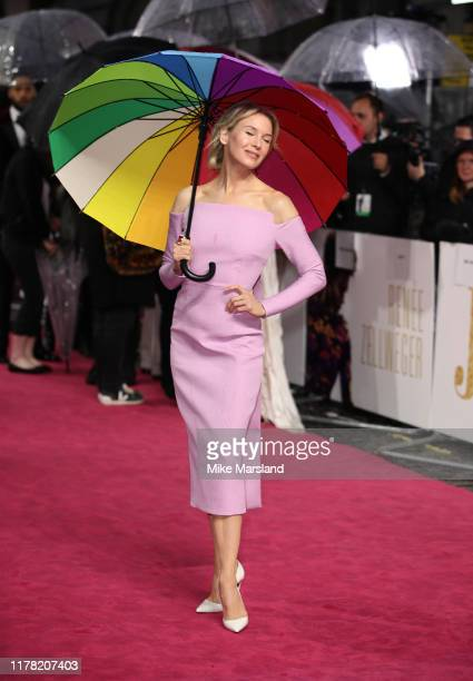 """Renee Zellweger attends the """"Judy"""" European Premiere at The Curzon Mayfair on September 30, 2019 in London, England."""
