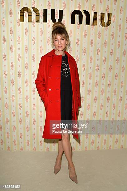 Renee Zellweger attends the Miu Miu show as part of the Paris Fashion Week Womenswear Fall/Winter 2015/2016 on March 11 2015 in Paris France