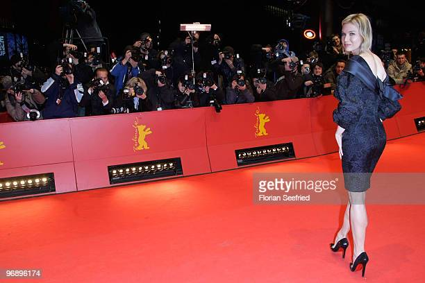 Renee Zellweger attends the 'Otouto' Premiere during day ten of the 60th Berlin International Film Festival at the Berlinale Palast on February 20...