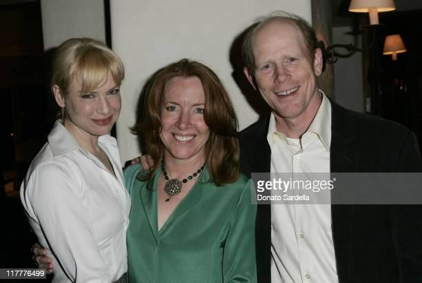 Renee Zellweger Cheryl Howard Crew and Ron Howard