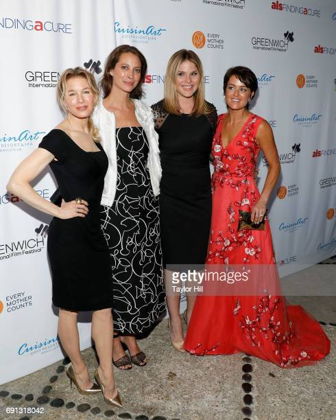 Renee Zellweger Christy Turlington Jenna Bush Hager and Wendy Reyes attend the 2017 Changemaker Honoree Gala during the Greenwich International Film...