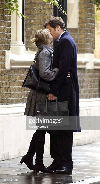 Renee Zellweger & Colin Firth Filming 'Bridget Jones'S Diary 2 ' In London'S Borough Market.