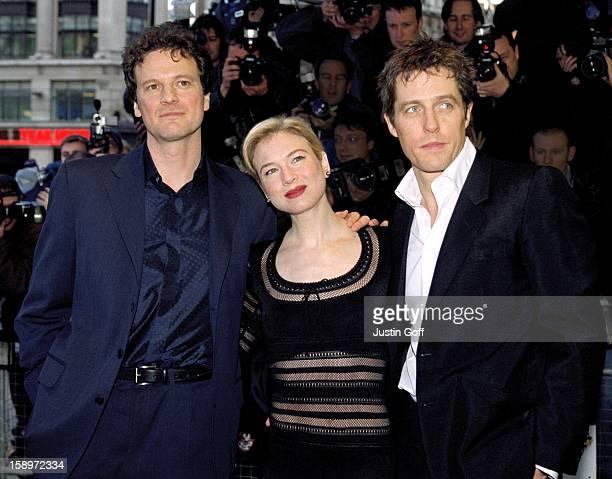 Renee Zellweger, Colin Firth & Hugh Grant Attend The 'Bridget Jones'S Diary' Premiere In London.