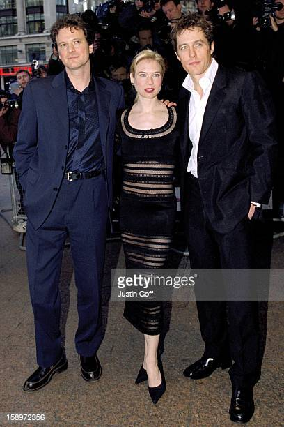 Renee Zellweger Colin Firth Hugh Grant Attend The 'Bridget Jones'S Diary' Premiere In London
