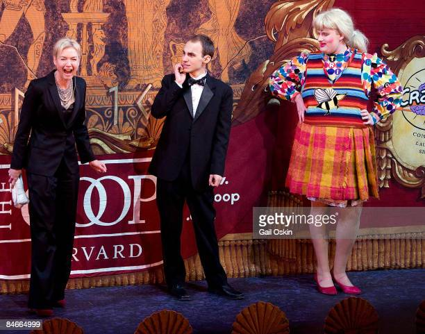 Renee Zellweger David Andersson and Clifford Murray as Zellweger is honored as Harvard University's Hasty Pudding Club's 2009 Woman of the Year at...