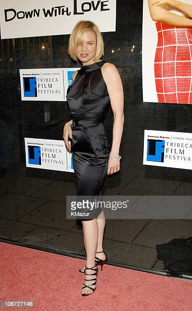 Renee Zellweger during 2003 Tribeca Film Festival 'Down With Love' World Premiere at Tribeca Performing Arts Center 199 Chambers Street in New York...