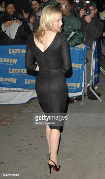 Renee Zellweger during Renee Zellweger Visits The Late Show With David Letterman December 20 2006 at The Ed Sullivan Theater in New York City New...