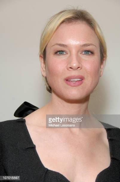 """Renee Zellweger during Tribeca Cinema Series Hosts """"Miss Potter"""" Tea Party and Beatrix Potter Gallery Launch at Tribeca Cinemas Gallery in New York..."""