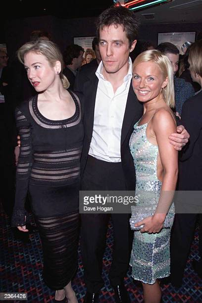 Renee Zellweger Hugh Grant and Geri Halliwell at the party for Bridget Jones Diary premiere at Mezzo in London on 4/4/2001 Photo by Gareth...