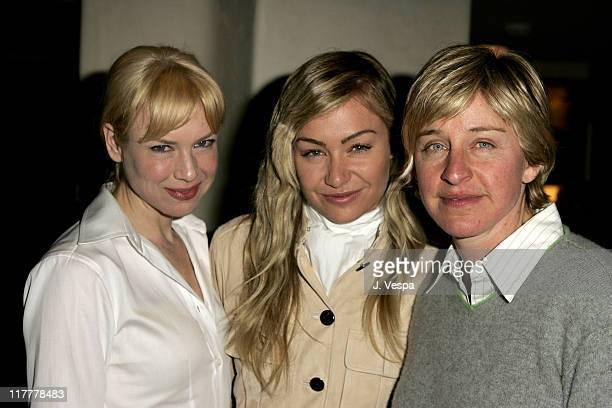 Renee Zellweger Portia De Rossi and Ellen DeGeneres