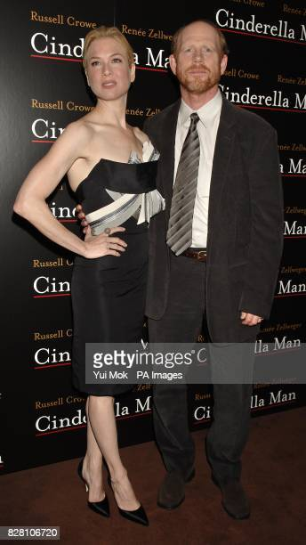 Renee Zellweger poses with director Ron Howard during a photocall for the UK premiere of 'Cinderella Man' at Teatro in central London Thursday 8...