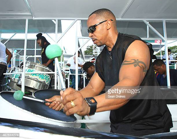 Renegades Steel Orchestra performs during National Panorama Semi-Finals in the Queens Park Savannah as part of Trinidad and Tobago Carnival on...