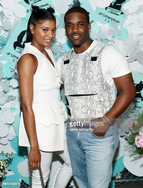 Renell Medrano and A$AP Ferg attend the Tiffany Co Paper Flowers event and Believe In Dreams campaign launch on May 3 2018 in New York City