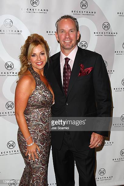 Renetta Caya and husband arrive at Beckstrand Cancer Foundation's 8th Annual Diamond Pearl Ball at The Balboa Bay Club And Resort on October 22 2011...