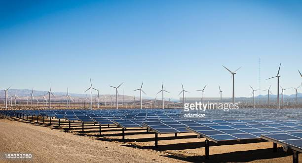 renewable energy - solar and windmills - solar powered station stock pictures, royalty-free photos & images