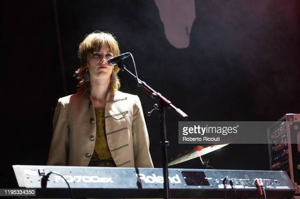 Reni Lane of Razorlight performs on stage at Usher Hall on January 22 2020 in Edinburgh Scotland