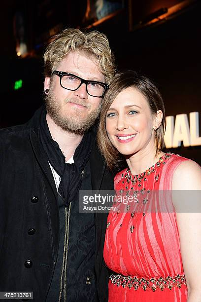 Renn Hawkey and Vera Farmiga attend AE's 'Bates Motel' and 'Those Who Kill' Premiere Party at Warwick on February 26 2014 in Hollywood California