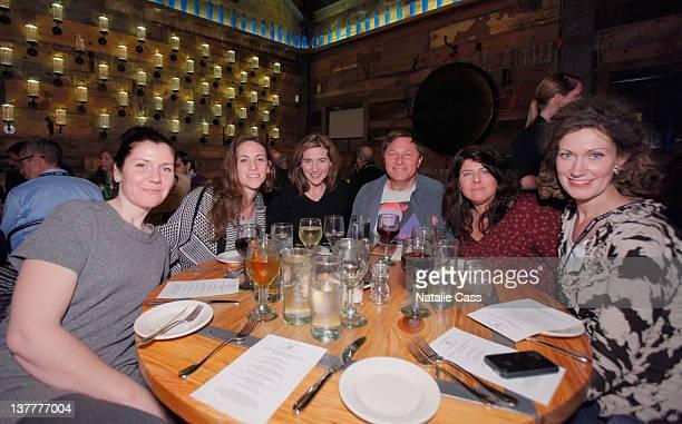 Renna Yassini Chevenee Reavis Holly Ann Avram Ludwig and Naomi Wolf attends the Skoll Closing Dinner during the 2012 Sundance Film Festival on...