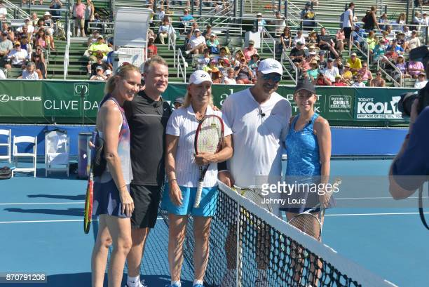Rennae Stubbs Tate Donovan Martina Navratilova Dr Phil McGraw and Chris Evert participate in the 28th Annual Chris Evert/Raymond James ProCelebrity...