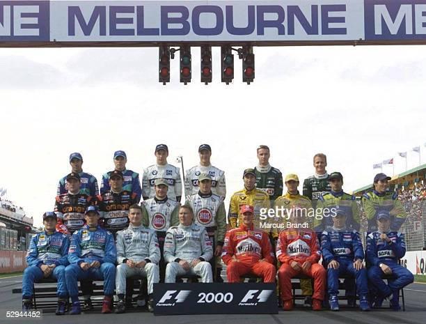 AUSTRALIEN 2000 Rennen Melbourne TEAMVORSTELLUNG/ALLE FAHRER