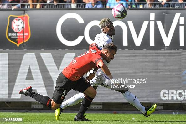 rennes 39 french defender damien da silva vies with toulouse. Black Bedroom Furniture Sets. Home Design Ideas