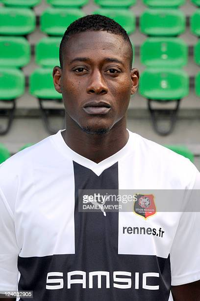 Rennes' French goalkeeper Abdoulaye Diallo poses during the football team's official picture for the 20112012 season on September 07 2010 at the...