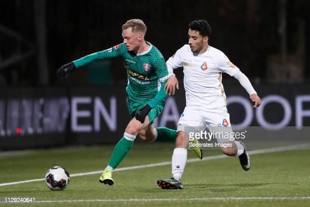 Renny Smith of FC Dordrecht Anass Najah of Telstar during the Dutch Keuken Kampioen Divisie match between Telstar v FC Dordrecht at the Rabobank...