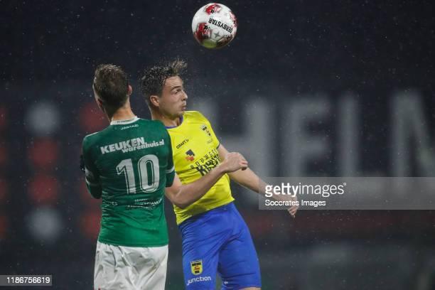 Renny Smith of FC Dordrecht, Mitchel Paulissen of SC Cambuur during the Dutch Keuken Kampioen Divisie match between FC Dordrecht v SC Cambuur at the...