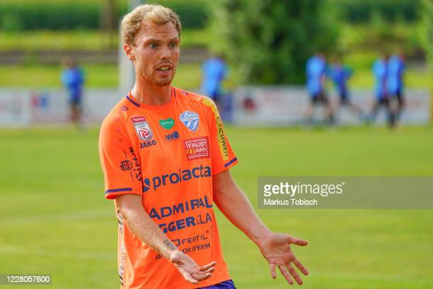 Renny Smith of Hartberg during the Friendly match between TSV prolactal Hartberg and FC Banik Ostrava at RM-Stadion on August 15, 2020 in St.Johann...