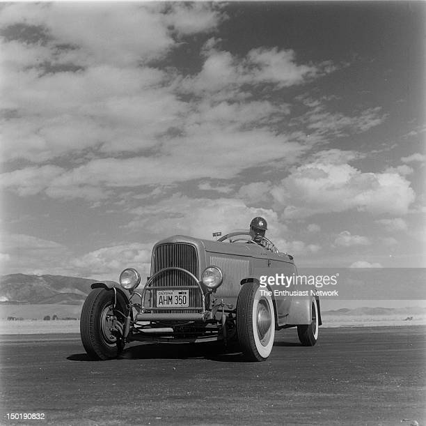 Reno Half Mile Drags 1932 Ford Roadster with 208 cubic inch Jaguar engine under the hood Turned in a speed of 10359 in the quarter mile Nevada Timing...