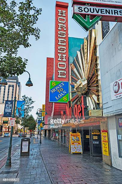 reno nevada street views in morning - nevada stock pictures, royalty-free photos & images