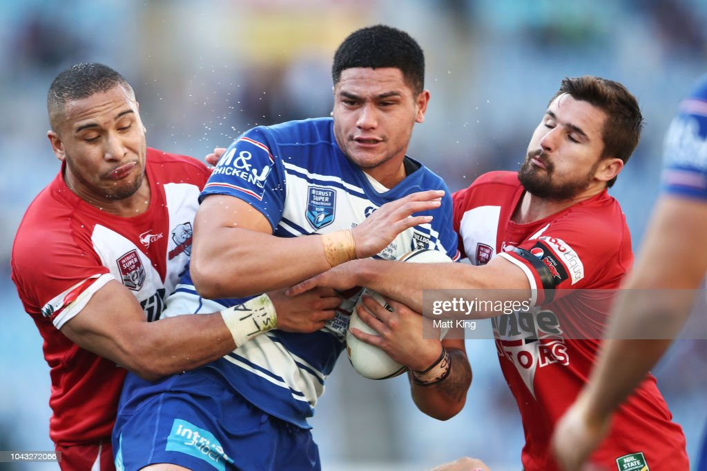2018 NRL Intrust Super State Championship Grand Final - Bulldogs v Dolphins : News Photo