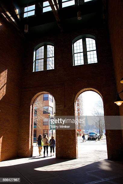 Renovated brick arches of Shipyard, Hoboken