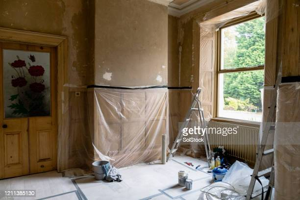 renovating room - renovation stock pictures, royalty-free photos & images